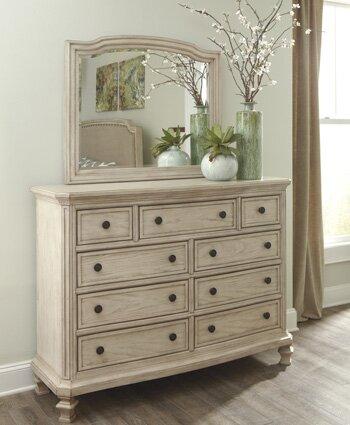 Bretenieres 9 Drawer Dresser With Mirror By Lark Manor.