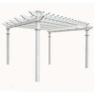 Regency 12 Ft. W x 12 Ft. D Vinyl Pergola by New England Arbors