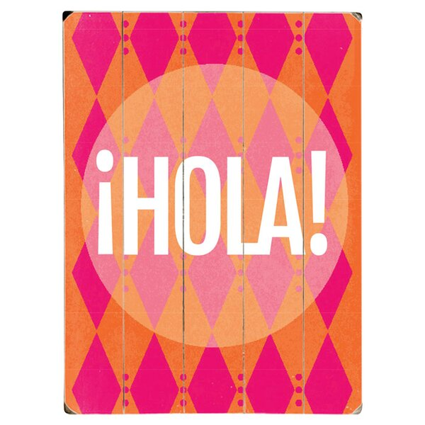 Hola Textual Art Multi-Piece Image on Wood by Artehouse LLC