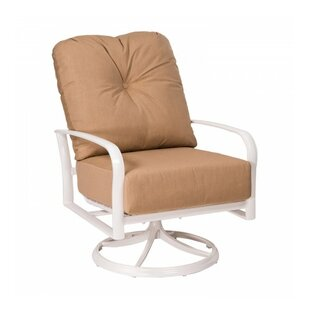 Fremont Swivel Rocking Patio Chair with Cushions by Woodard
