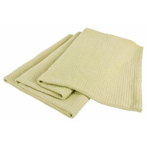 All-Natural Cotton Basket-Woven Blanket