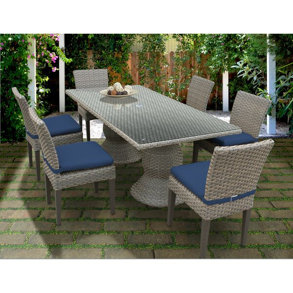 Oasis 7 Piece Dining Set with Cushions by TK Classics