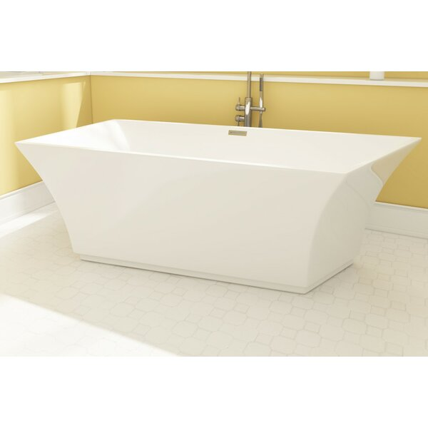 Aqua Eden Square Acrylic 67 x 30 Freestanding Soaking Tub by Kingston Brass