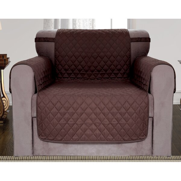 Diamond Quilted Reversible Box Cushion Armchair Slipcover By Red Barrel Studio