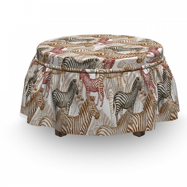 Camo Ottoman Slipcover (Set Of 2) By East Urban Home