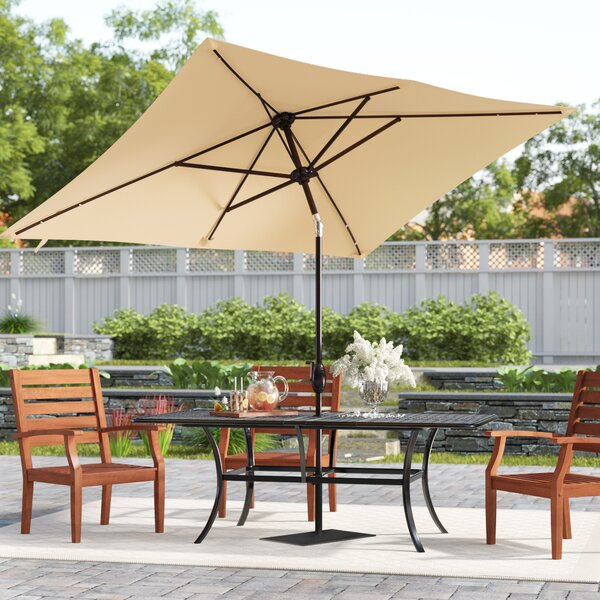 Jerrell 10' x 6.7' Rectangular Market Umbrella by Freeport Park