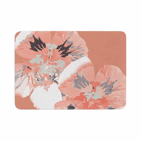 Graphic Flower Nasturtium by Love Midge Memory Foam Bath Mat by East Urban Home