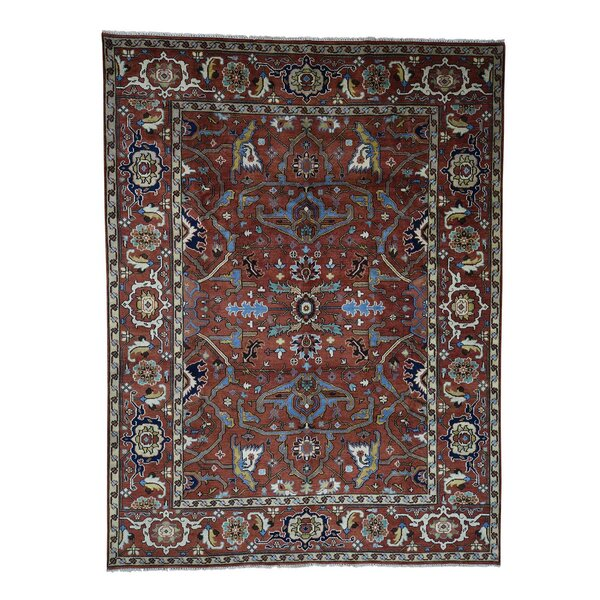 One-of-a-Kind Newcastle Oriental Hand-Knotted Red Area Rug by Astoria Grand