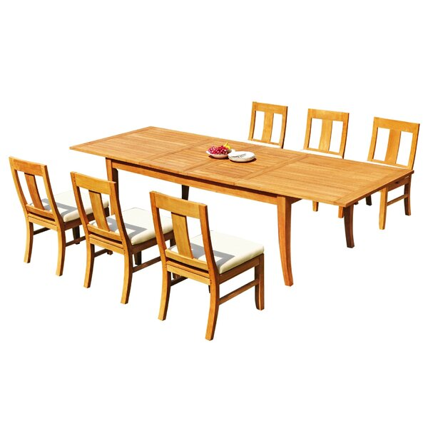 Isai 7 Piece Teak Dining Set By Rosecliff Heights