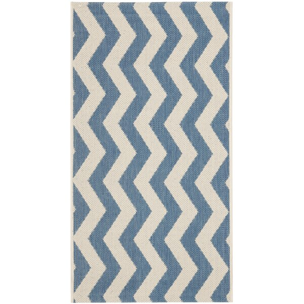 Mullen Blue/Beige Indoor/Outdoor Area Rug by Ebern Designs