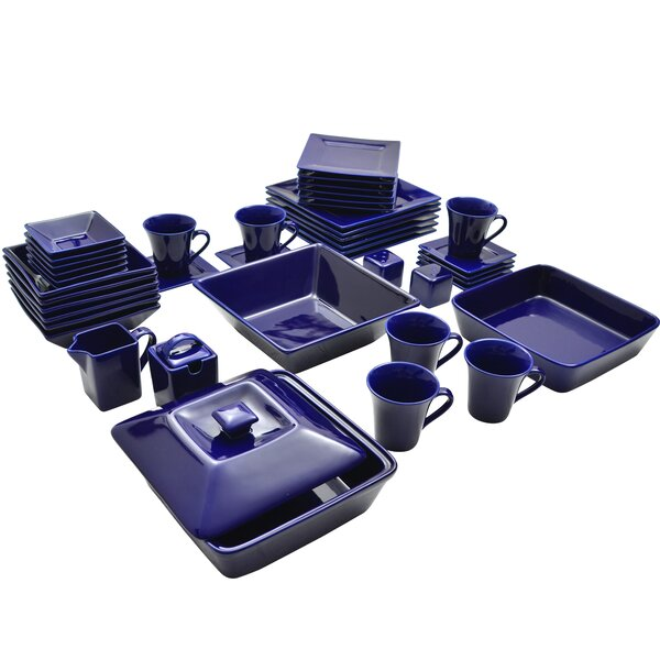Corrina 45 Piece Square Dinnerware Set, Service for 6 by Zipcode Design