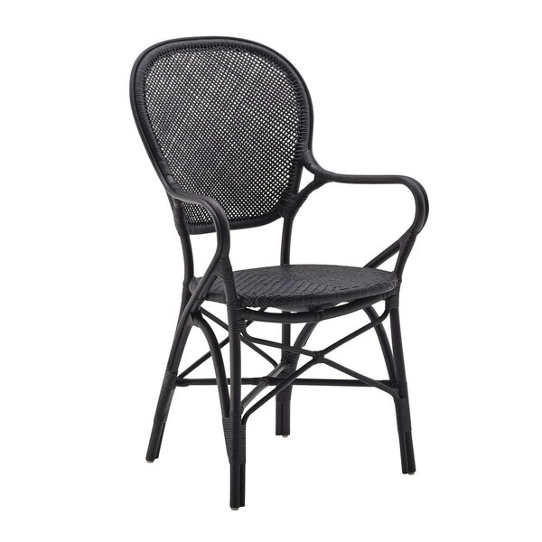 Ojas Stacking Patio Dining Chair by Bungalow Rose Bungalow Rose