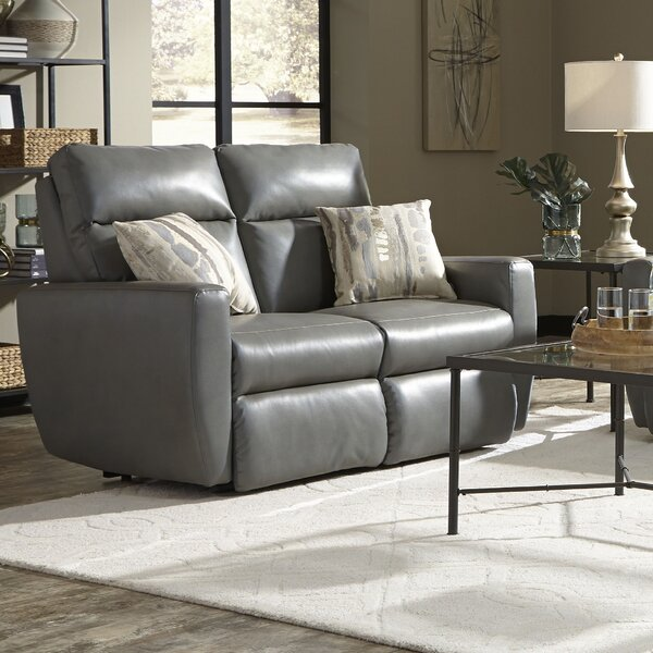 Knockout Leather Reclining Loveseat by Southern Motion