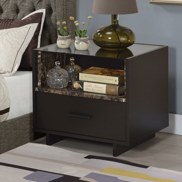 Spradley 1 Drawer Nightstand By Red Barrel Studio by Red Barrel Studio Comparison