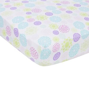 Colorful Bursts Flat Crib Sheet