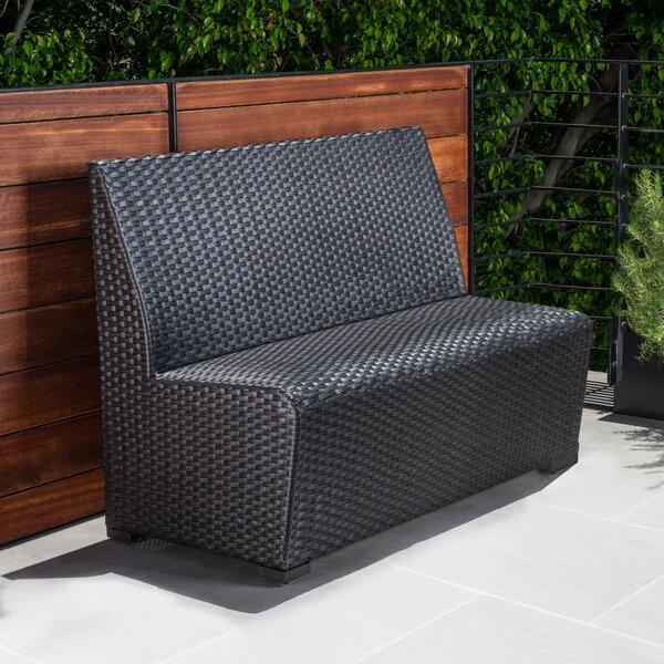 Melaina Wicker Garden Bench (Set of 2) by Brayden Studio