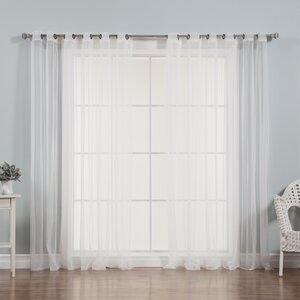 Drishya Solid Sheer Grommet Curtain Panels