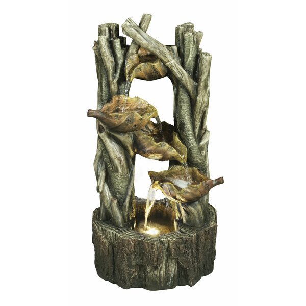 Resin Leaves and Branches Fountain with LED Light by Hi-Line Gift Ltd.