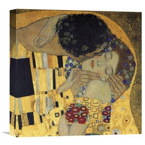 'The Kiss (Detail 3)' by Gustav Klimt Painting Print on Wrapped Canvas by Global Gallery
