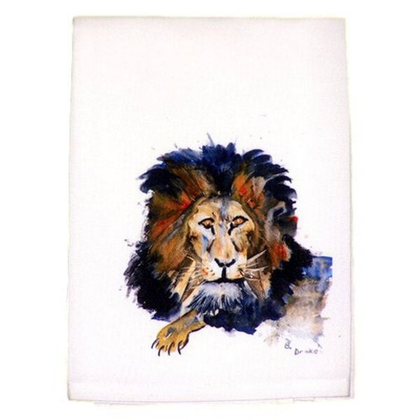 Lion Hand Towel by Betsy Drake Interiors