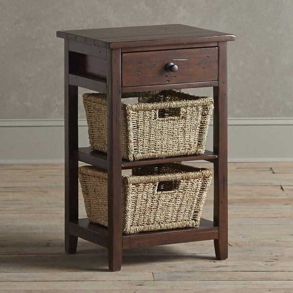Crete End Table With Storage By Highland Dunes