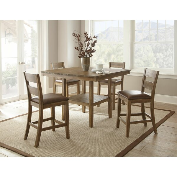 Achenbach 5 Piece Counter Height Dining Set by Alcott Hill