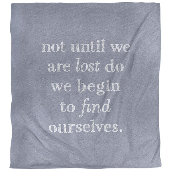 Find Yourself Quote Single Duvet Cover