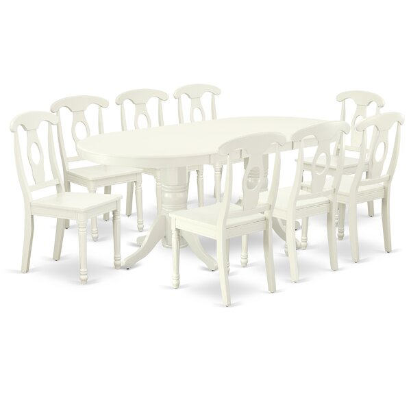 Piechota 9 Piece Extendable Solid Wood Dining Set by Winston Porter Winston Porter