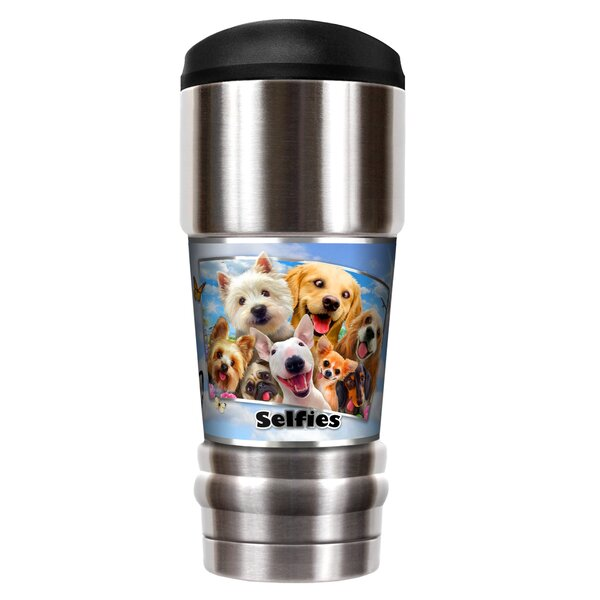 Dog Selfies 18 oz. Stainless Steel Travel Tumbler by Great American Products