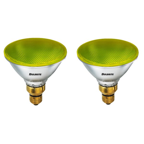 90W E26 Dimmable Halogen Spotlight Light Bulb Yellow (Set of 2) by Bulbrite Industries