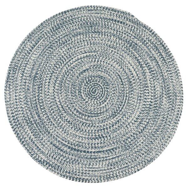 Longe Tweed Hand-Braided Arctic Blue Indoor/outdoor Area Rug By Winston Porter.