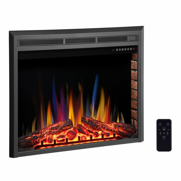 Tybalt Stove Heater Recessed Electric Fireplace Insert By Charlton Home