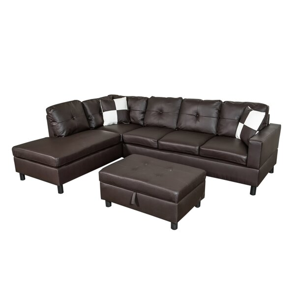 Saltville Sectional with Ottoman by Ebern Designs