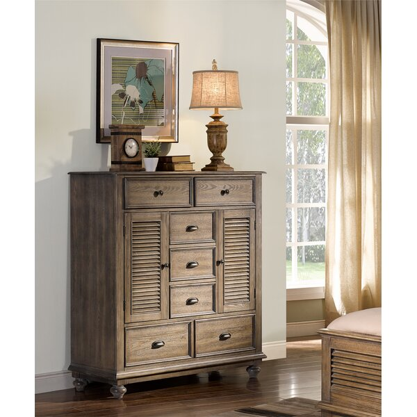 Spriggs Mule 7 Drawer Combo Dresser by Highland Dunes