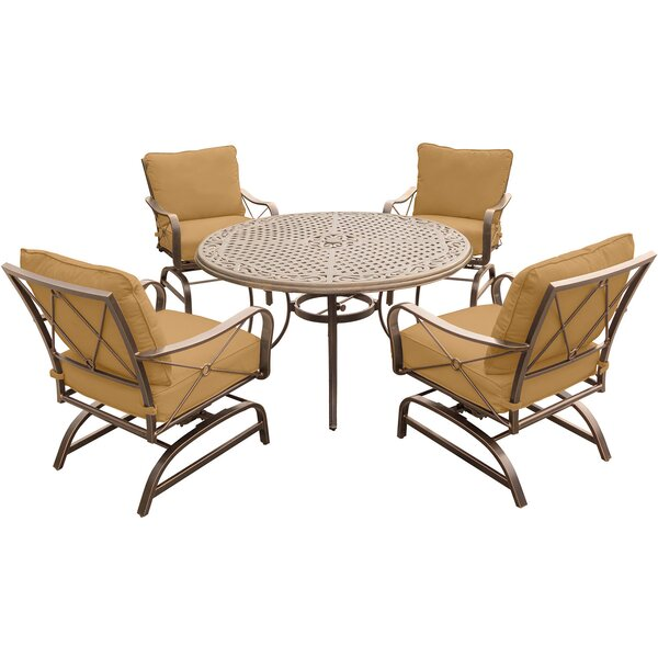 Rhonda 5 Piece Dining Set with Cushions by Fleur De Lis Living