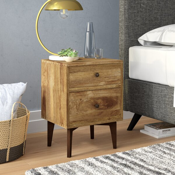 Yuvaan 2 Drawer Nightstand by Union Rustic
