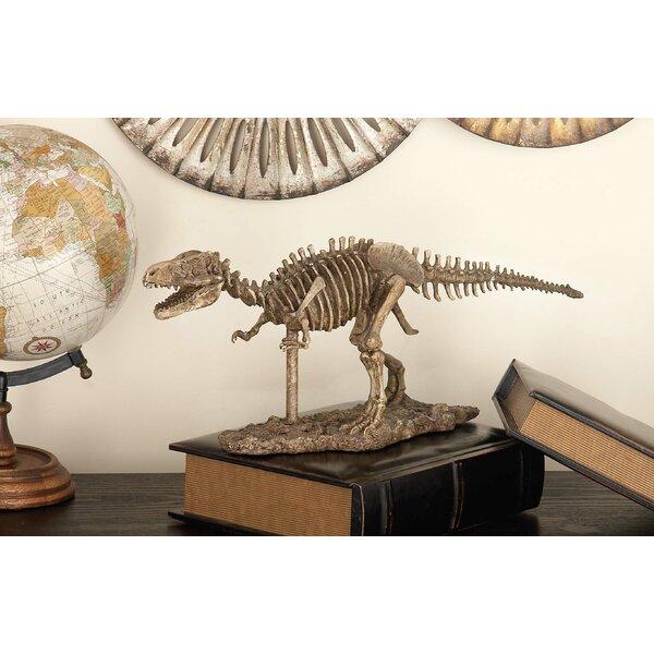 Polystone Dinosaur Skeleton Figurine by Cole & Grey