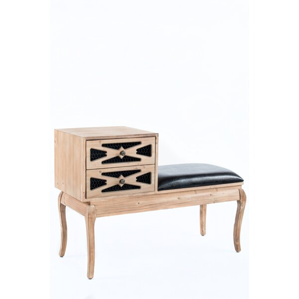 Wood Storage Bench by Statements by J