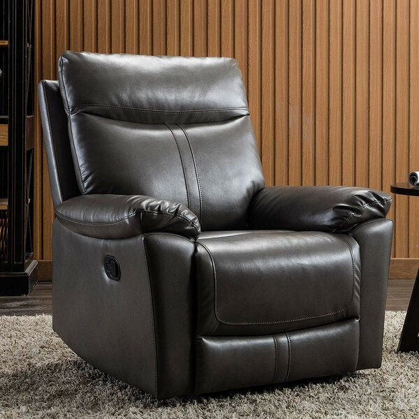 Canina Padded Durable Ergonomic Manual Recliner By Winston Porter