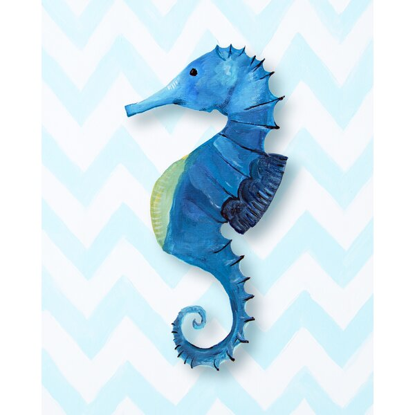 Nautical Seahorse Paper Print by Cici Art Factory