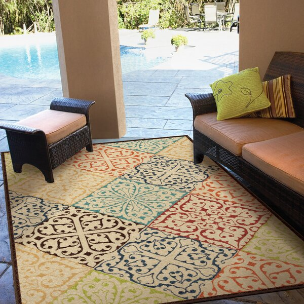 Trawalla Beige Indoor/Outdoor Area Rug by Threadbind
