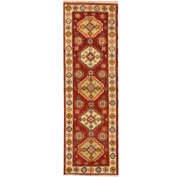 Kazak Hand-Knotted Rust/Ivory Area Rug by Herat Oriental