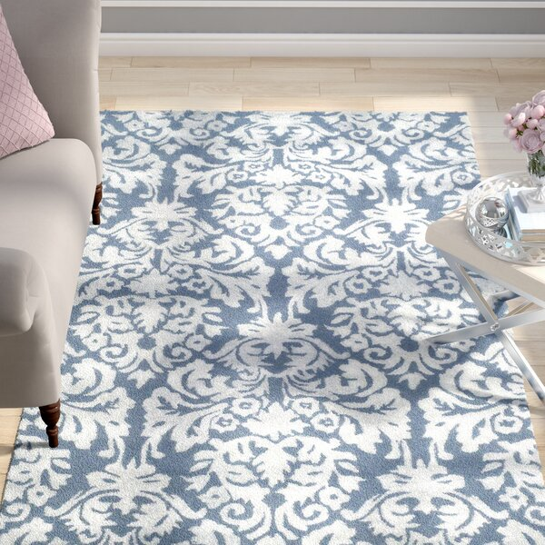 Mcguire Hand-Tufted Navy/Gray Area Rug by Willa Arlo Interiors