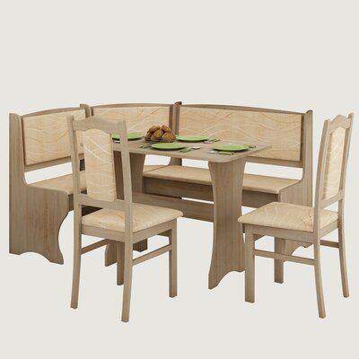 Red Barrel Studio Rivale 4 Piece Breakfast Nook Dining Set