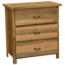 Blue Stain Pine 3 Drawer Chest by Fireside Lodge