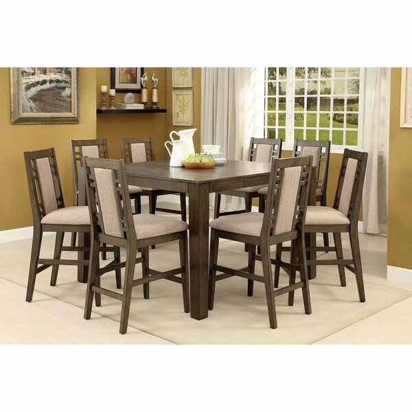 Livingon 9 Piece Counter Height Extendable Dining Set by Canora Grey