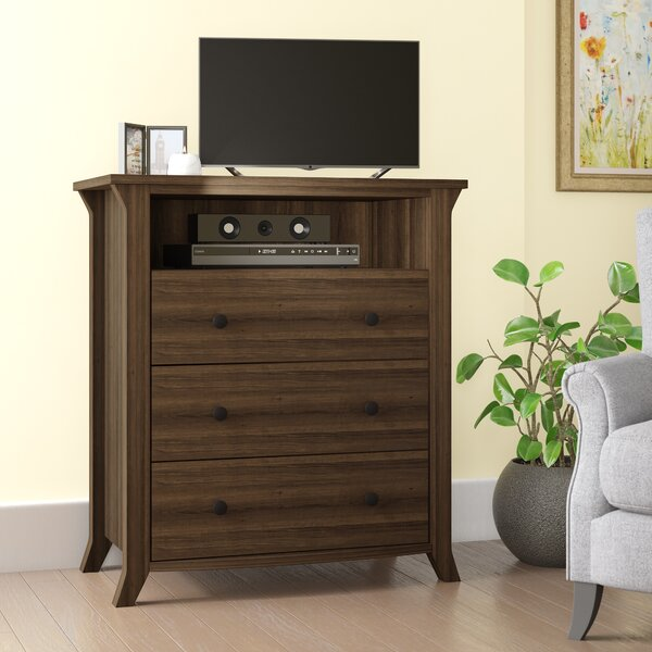 Plumville 3 Drawer Media Chest By Darby Home Co.