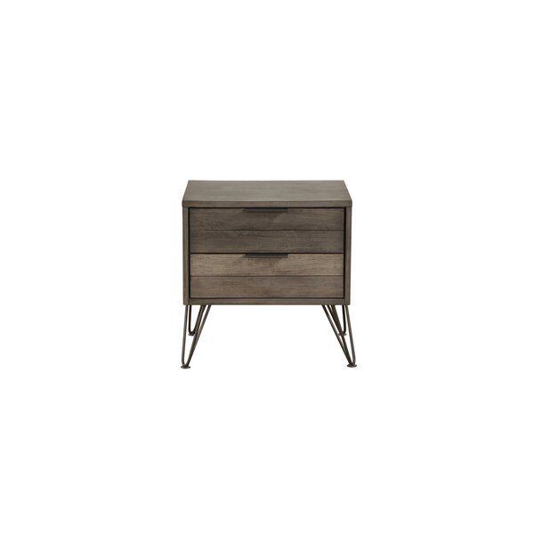 Borman 2 Drawer Nightstand by Union Rustic