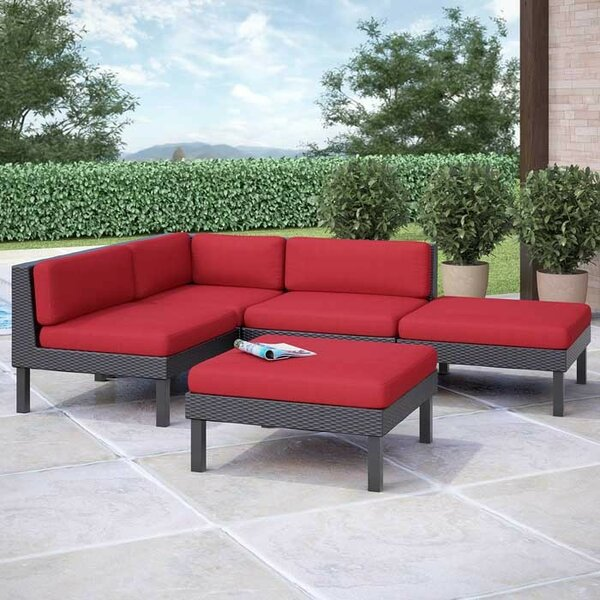 Zoar 5 Sectional Set with Cushions by Breakwater Bay