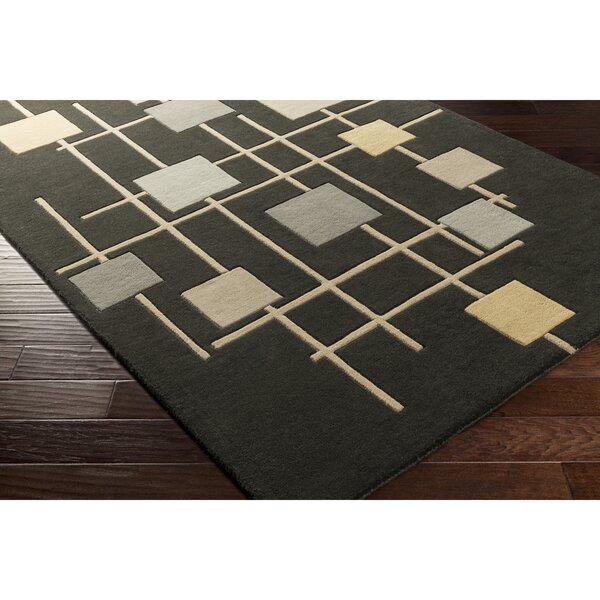 Dewald Hand-Tufted Brown Area Rug by Ebern Designs